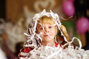бумажное шоу на дне рожденья