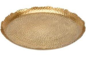 Блюдо декоративное золотое 29 см 1 шт. 50 грн.